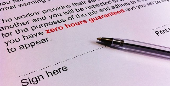Zero hours contracts and pay when suspended